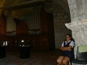 happy docent at catedral san francisc havana