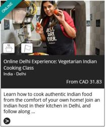 onlline cooking class from Delhi