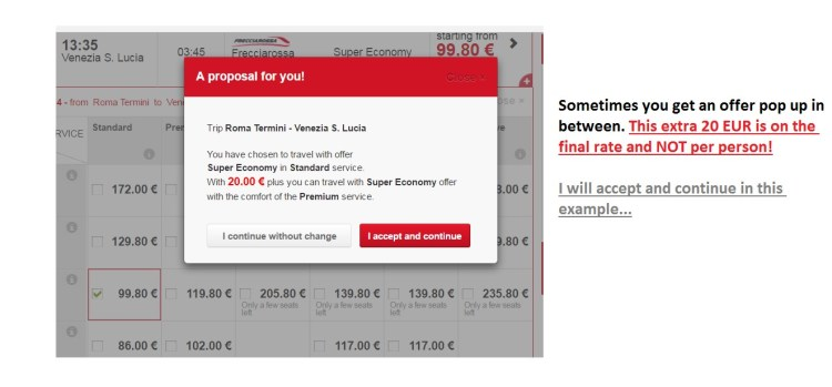Step 4 - How to Book on Trenitalia?