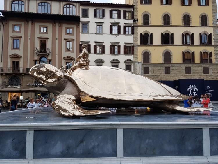 Bronze Turtle - Piazza della Signoria Florence