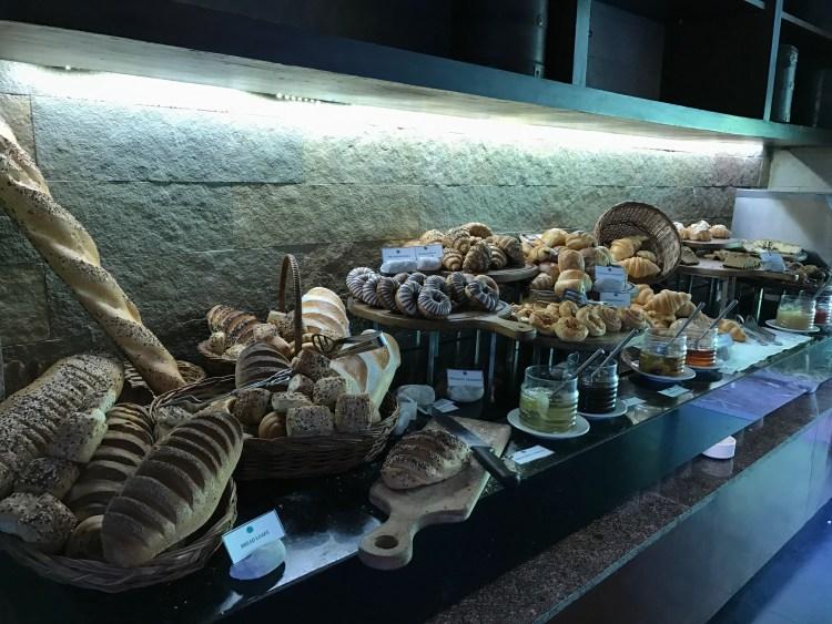 Overflowing Breakfast Bakery Buffet at Terrazzo - Hilton Shillim