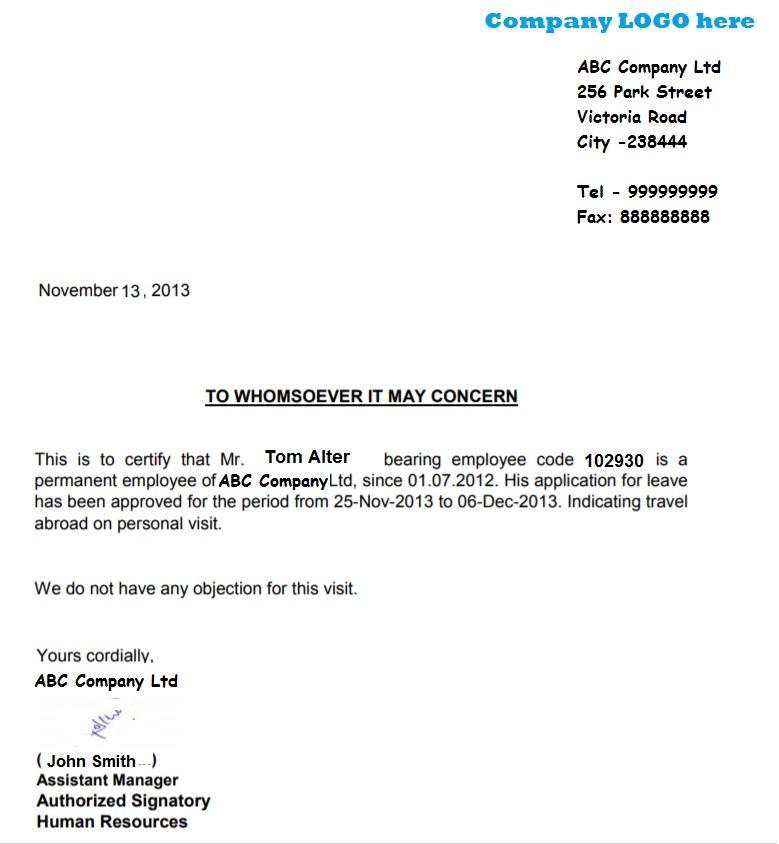Noc letter format for leave schengen visa leave letter sample schengen visa leave letter sample employee leavenoc letter format thecheapjerseys Choice Image