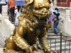 Lion devant la porte de l'Harmonie suprême