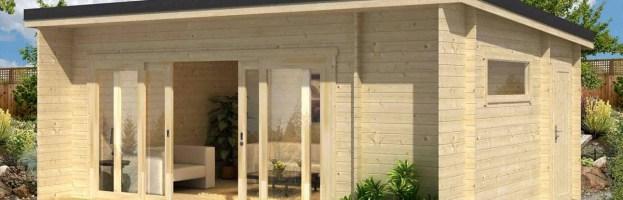 Le chalet de Jardin Java 44mm, 22.8 m² intérieur
