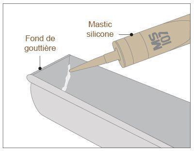 Etanchéité assurée par un ajout de mastic Silicone