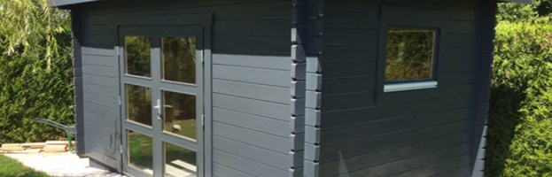 Abri de jardin BANDOL madriers 44 mm