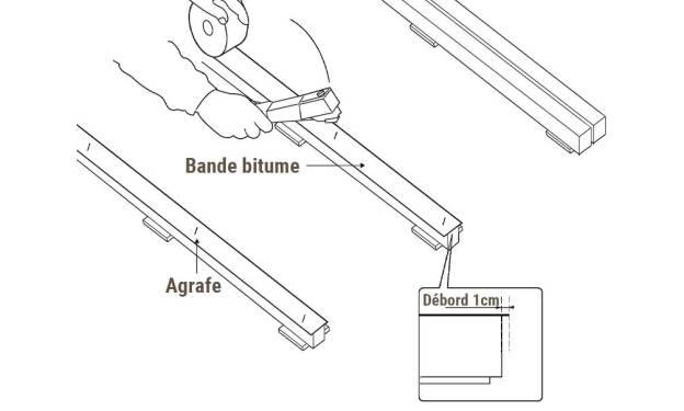 Utilisation de bande bitume lors de la pose terrasse bois
