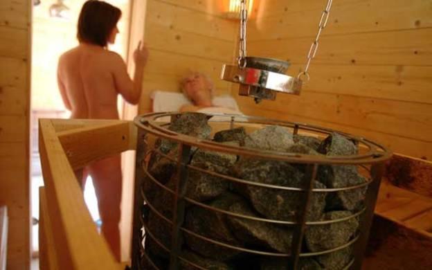 Moment de détente au sauna