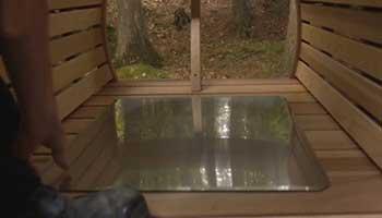 plaque de fond pour poele sauna
