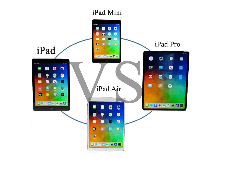 iPad vs iPad mini vs iPad air vs iPad pro