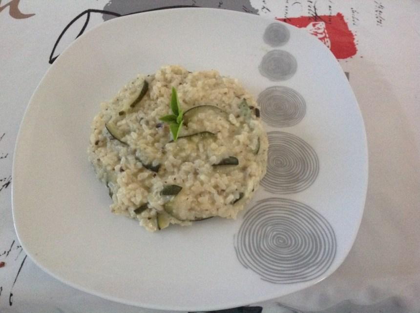 risotto courgette champignon