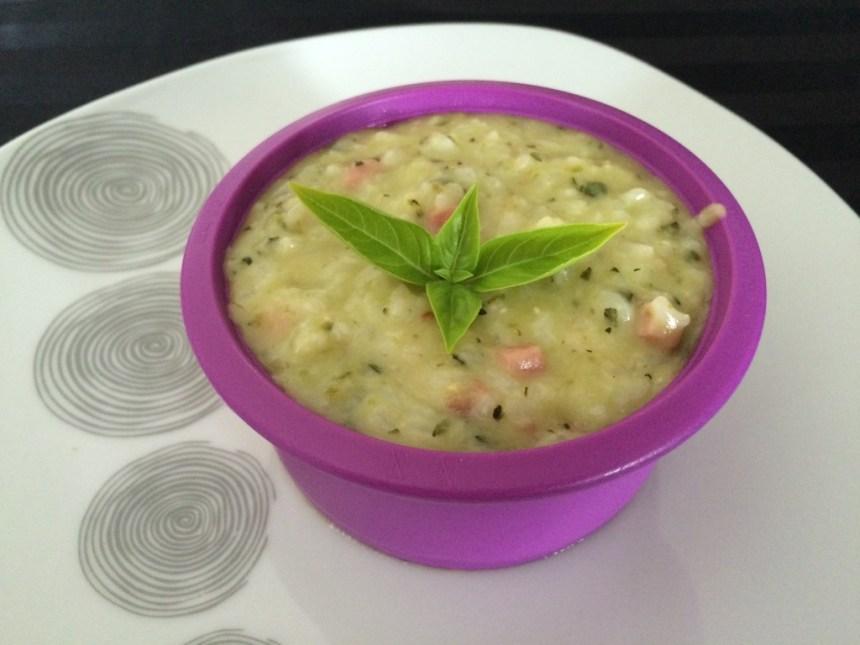 risotto jambon lardons courgette 2