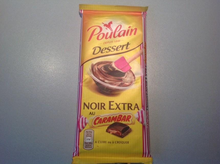 Poulain chocolat noir au carambar