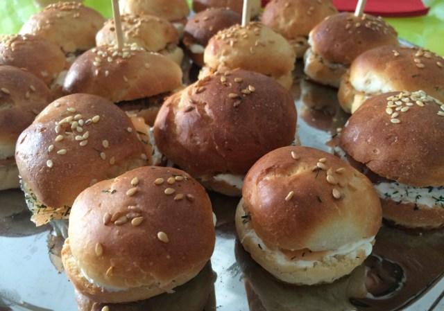 minis burgers apéritifs