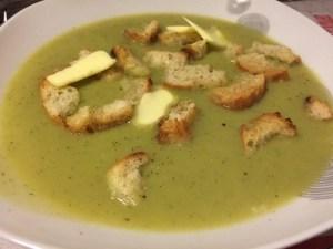 soupe oignon, courgette, haricots beurre trop gros pour être mangé en haricots...