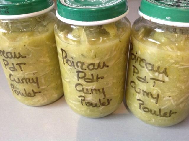 BB purée pomme de terre poireau poulet avec une pointe de curry