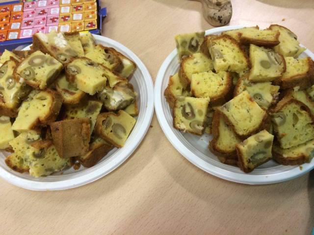 cake chorizo, feta et olives