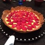 Tarte fraises -rhubarbe