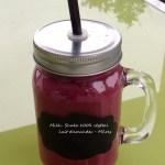 Milk-shake 100% végétal Lait d'amandes – mûres