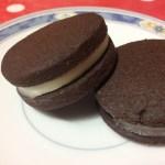 Biscuits cacao fourrés au beurre vanillé
