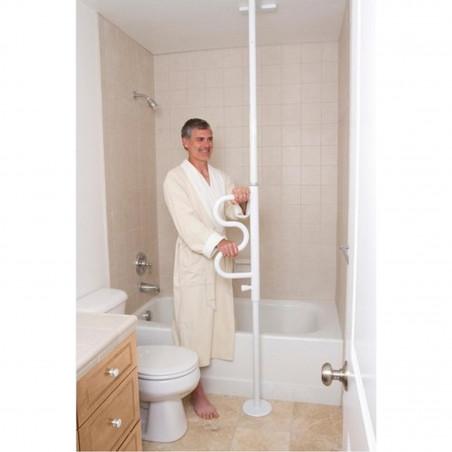 barre verticale d appui amovible pour salle de bain tous ergo