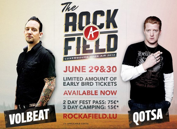 Photo of Festival Rock A Field 2013 : programme complet