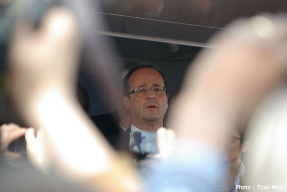 François Hollande à Forbach en 2012.
