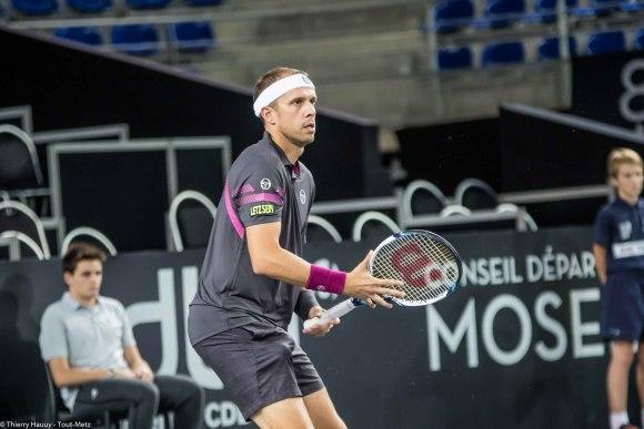 Le Luxembourgeois Gilles Muller s'est imposé face au Britannique Aljaz Bedene (6-3, 6-4) au Moselle Open 2015 à Metz