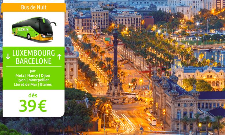 Photo of Luxembourg-Barcelone à petit prix grâce à une nouvelle ligne de bus