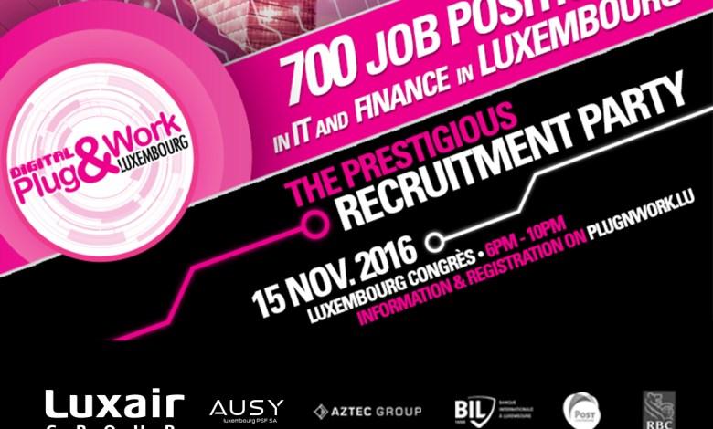 Photo of Soirée de recrutement Plug&Work à Luxembourg : 700 postes en IT et Finance