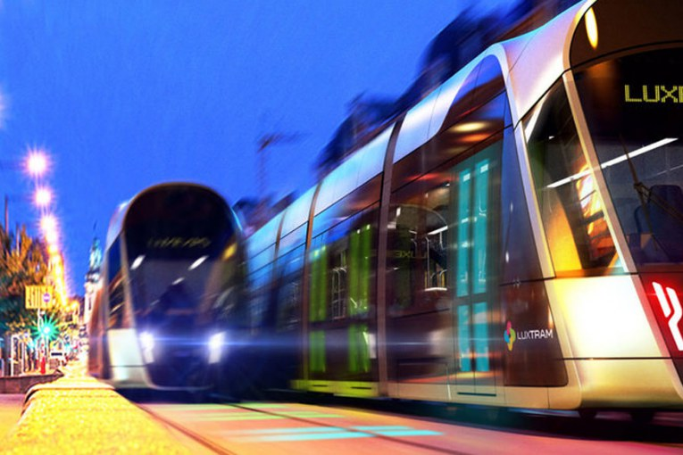 Luxembourg : la première rame du Tram a été livrée (photos)