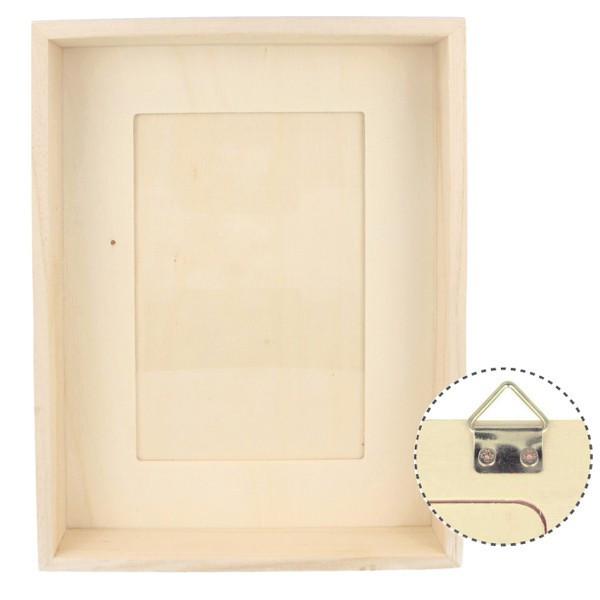 cadre photo profond bois 21 5cm photo 10x15cm
