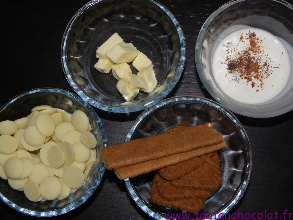 Truffes au chocolat blanc et au speculoos
