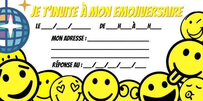 carte invitation anniversaire emoji