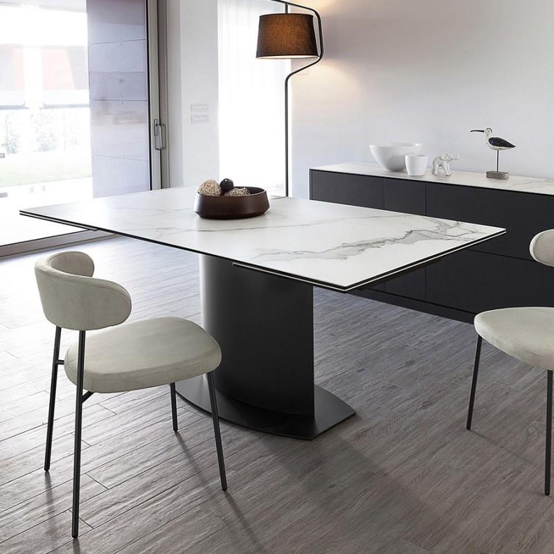 Table Extensible Plateau Cramique Marbre SUEZ MiLOME