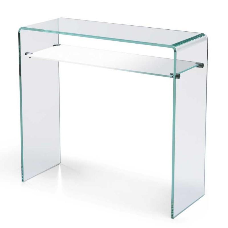 vente de console et etagere design gradient en verre a prix casse