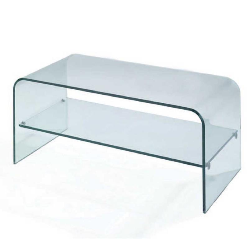 vente de meuble tv design dallas en verre pas cher