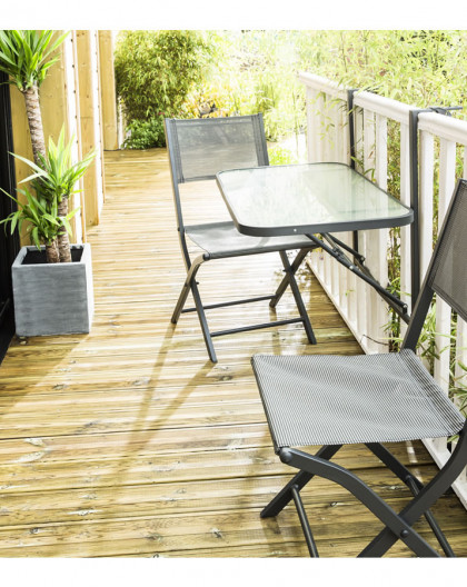 table de jardin table de balcon pliante dim 50 x 90cm wilsa toutpourlamaison fr