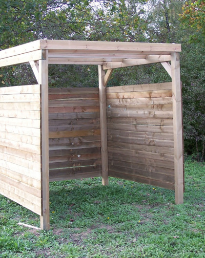 carport ferme 3 cotes 2x2m 4 00m2 carport abri voiture 4 00 m2 pour jardin
