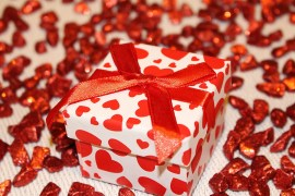 gift box with heart design