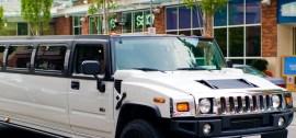 white modern limo