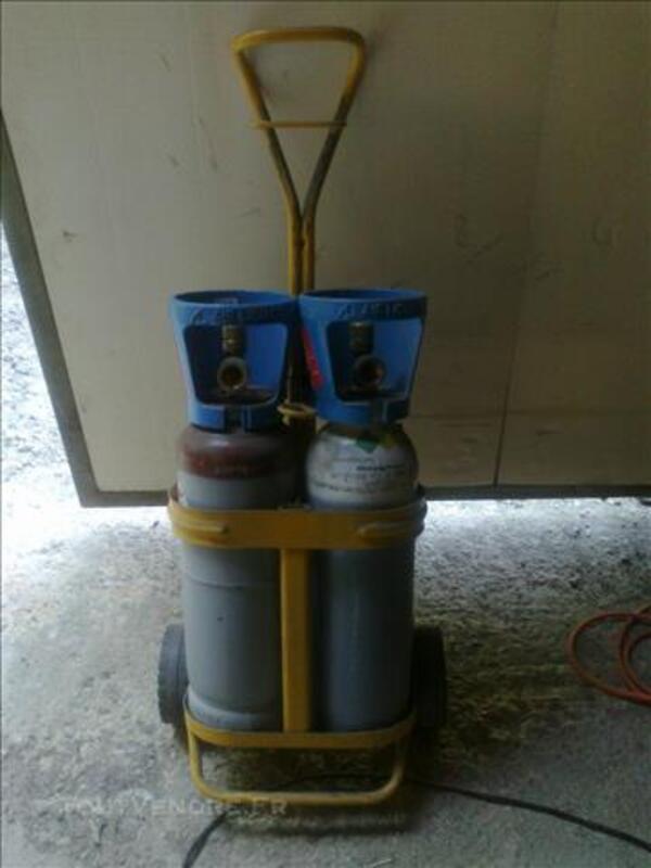 Bouteilles Oxygene Et Acetylene Avec Chariot Oxyflam Ecuelles 77250