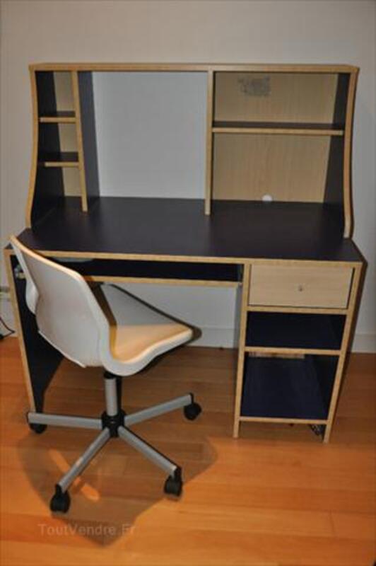 bureau enfant ado bleu ikea chaise