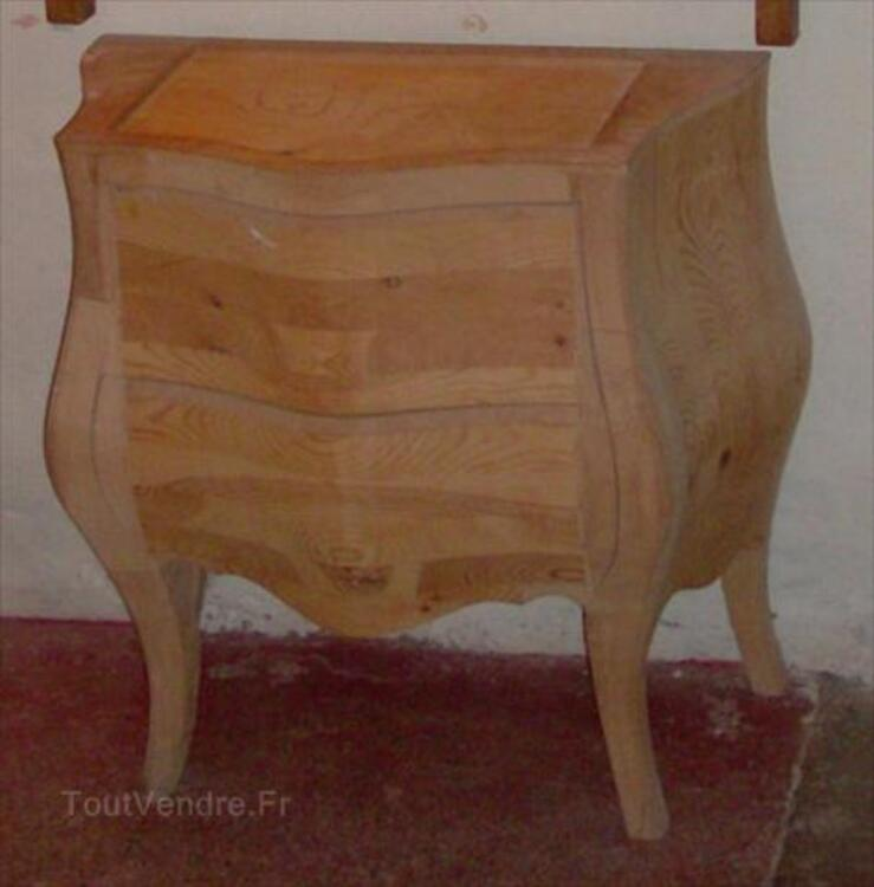 commode style louis xv en bois brut