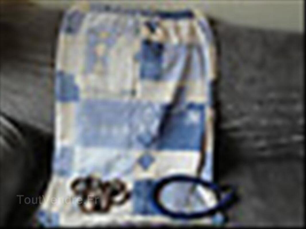 double rideaux heytens bleu crochet