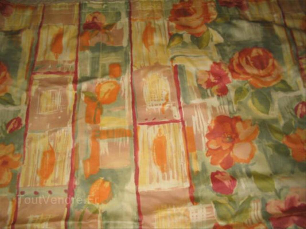 grand double rideaux fleuris lumineux