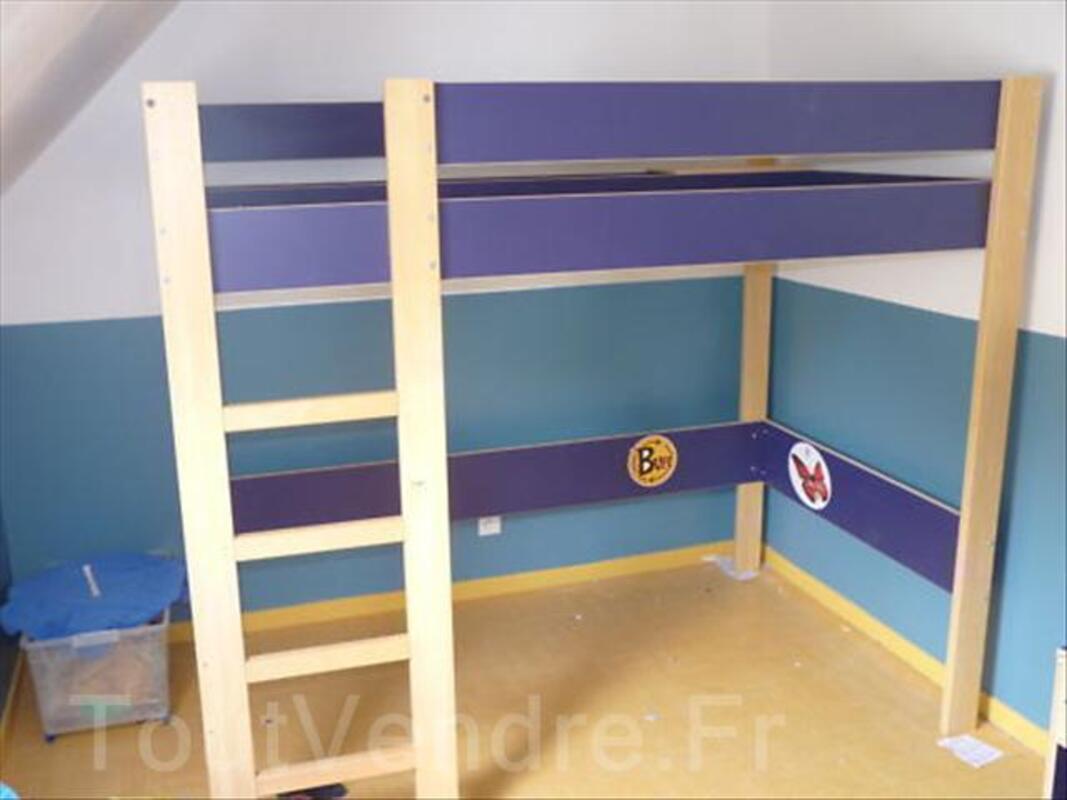lit enfant mezzanine ikea bleu marine