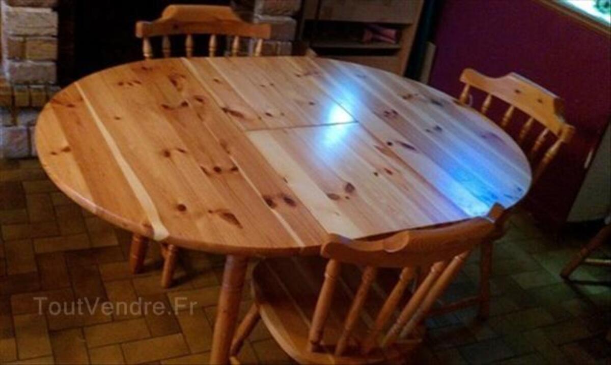 table ronde pin massif 105 cm avec 1