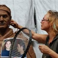 Tennis' Top Eight Men Immortalized in Terracotta