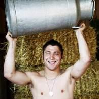 Flexing Farm Boys 'Bare-Chested in the Barnyard'